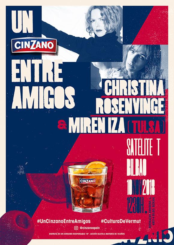 Cinzano cartel Entre Amigos Christina Rosenvinge y Miren Iza